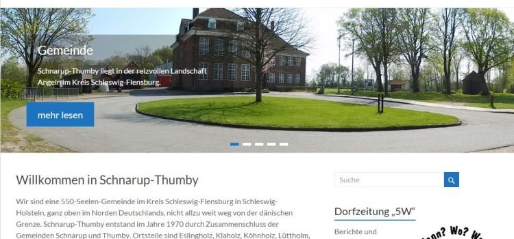 Die neue Homepage Schnarup-Thumby.de