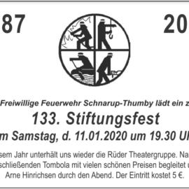 Stiftungsfest der Freiwilligen Feuerwehr Schnarup-Thumby